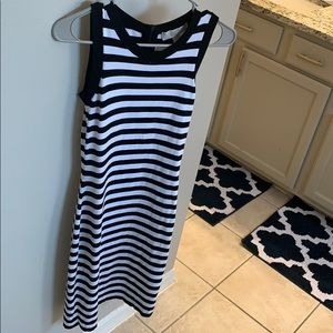 Michael Kors black and white sleeveless dress